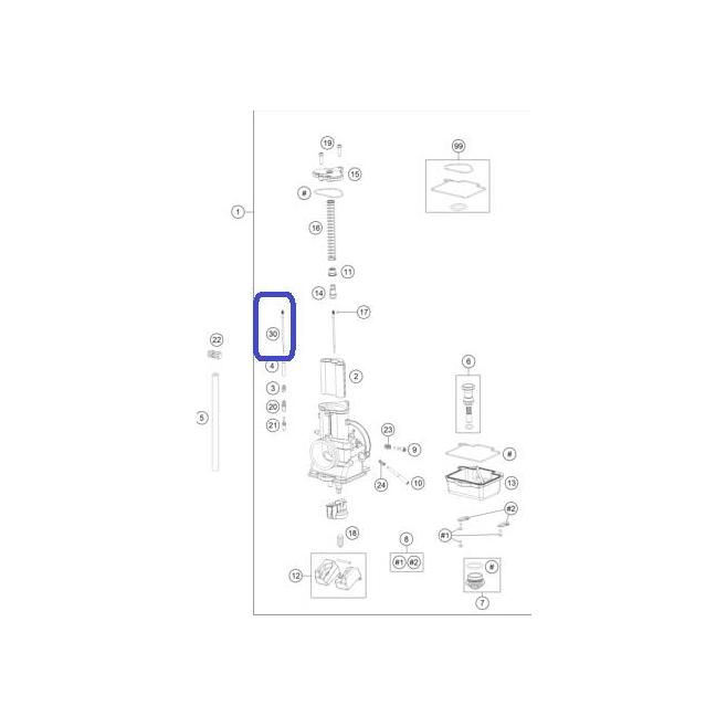 Aguja De Carburación 6BFY43-75 KTM