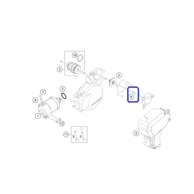 Arandela Encendido KTM 8X14X0,3