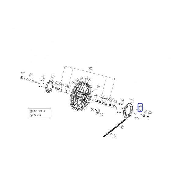 Allen Cónico 8X30 Tensor Cadena