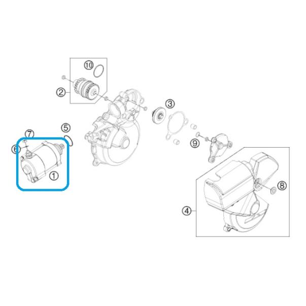 Motor de Arranque KTM EXC 08-13...