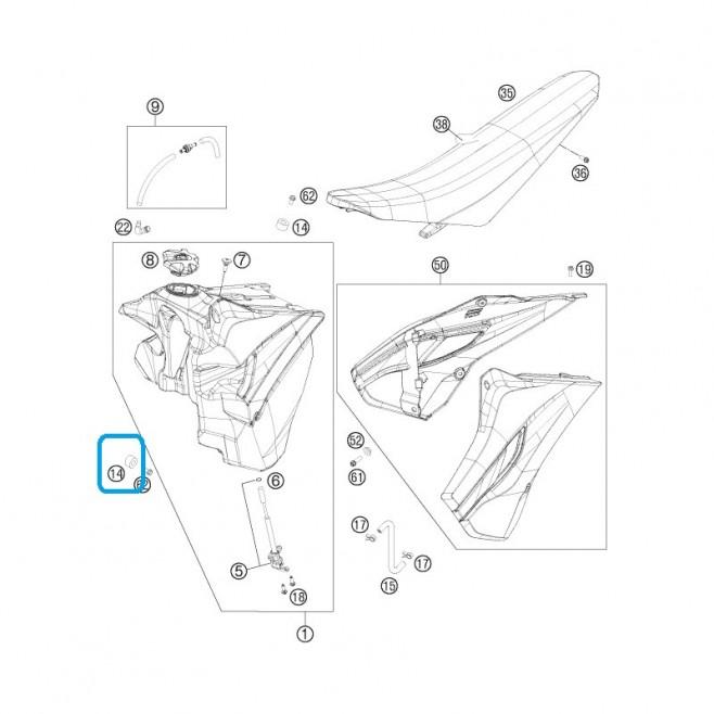 Tope Depósito KTM 12x26x12