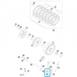 Pistón Pinza Embrague KTM EXC 125 00-05 SX 125 00-09 + 11-14