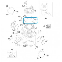 Torica Culata Exterior KTM 250 105,00 x 2,00 Viton