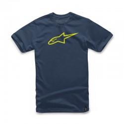 Camiseta Alpinestars Ageless Navy/Amarillo Flúor