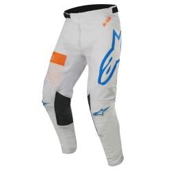 Pantalón Alpinestars Racer Tech Atomic 2019 Gris Claro/Azul/Naranja Flúor