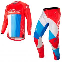 Set Alpinestars Techstar Venom 2019 Rojo/Blanco/Azul