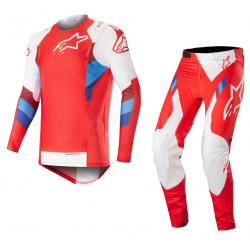 Set Alpinestars SuperTech 2019 Rojo/Blanco