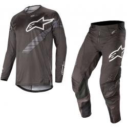 Set Alpinestars Techstar Graphite 2019 Negro/Gris Antracita