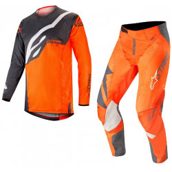 Set Alpinestars Techstar Factory 2019 Gris Antracita/Naranja Flúor