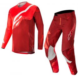 Set Alpinestars Techstar Factory 2019 Rojo/Borgoña
