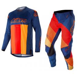 Set Alpinestars Techstar Venom 2019 Azul Marino/Rojo/Naranja