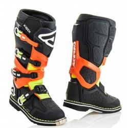 Botas Acerbis X-Rock Negro/Naranja Flúor