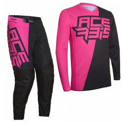 Set Acerbis LTD Skyclad Negro/Rosa