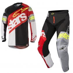 Set Alpinestars Racer Flagship 2018 Rojo/Blanco/Negro