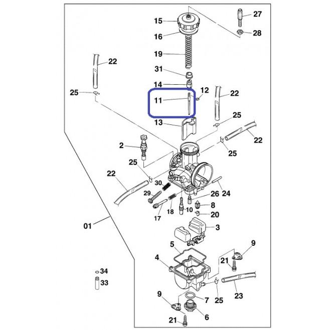 Aguja Carburación KTM Keihin N8RH