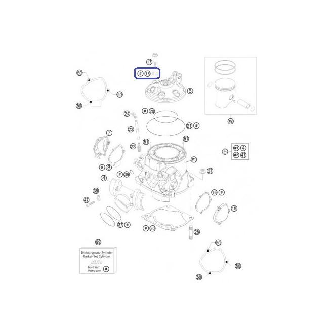 Arandela de Cobre Cilindro KTM 8X16X1