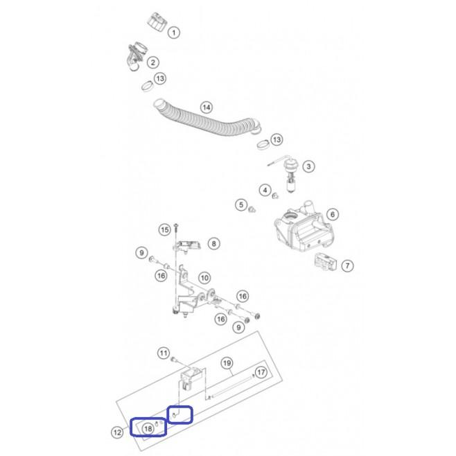 Abrazadera 1 Sistema Lubricación KTM...