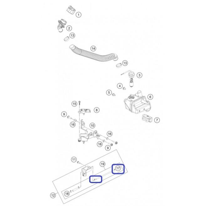 Abrazadera 2 Sistema Lubricación KTM...
