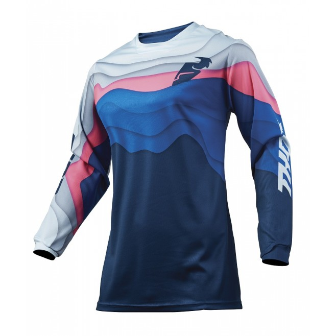 Jersey Mujer Thor Pulse S9W Depths Ocean/Rosa