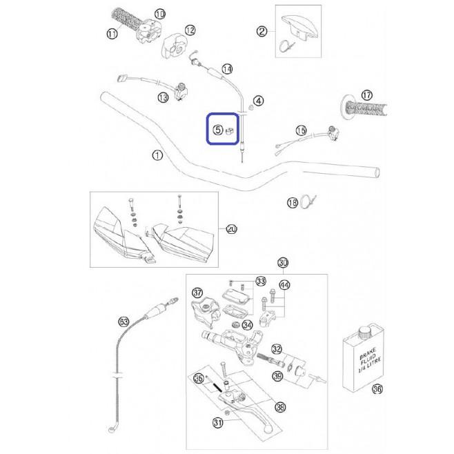 Abrazadera Cable Freno KTM/Husaberg...