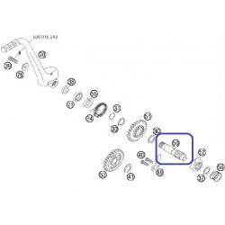 Eje Pedal Arranque KTM EXC-F 250 07-15 350 12-15 SX-F 250 06-11