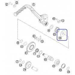 Arandela Plástico Pedal Arranque KTM EXC 300 99-04 SX 250 98-16 Husqvarna TE 250 14-16 TE 300 15-16 TC 250 14-16