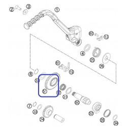Piñón Pedal Arranque KTM EXC 300 2004 SX 250 03-04 + 06-10 + 12-16 Husqvarna TE 250 14-16 TE 300 2015 TC 250 14-16 34-Z