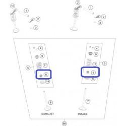 Retén Válvula Escape/Admisión KTM EXC-F 350 12-19 SX-F 350 11-19 Husqvarna FE 350 14-19 FC 350 15-19 FX 350 17-19