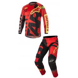 Set Alpinestars Racer Braap 2018 Rojo/Negro/Amarillo Flúor