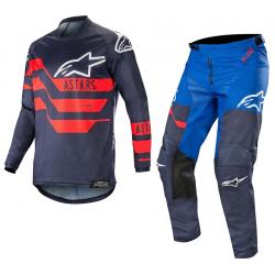 Set Alpinestars Racer Flagship 2019 Azul Oscuro/Azul/Rojo