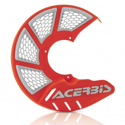 Protector Disco Delantero Acerbis X-Brake 2.0 KTM SX 85 09-17 Husqvarna TC 85 09-17 Naranja/Blanco