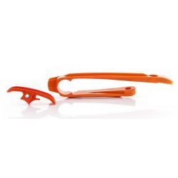 Patín Basculante + Deslizador Cadena Acerbis KTM EXC/EXC-F 17-… Naranja