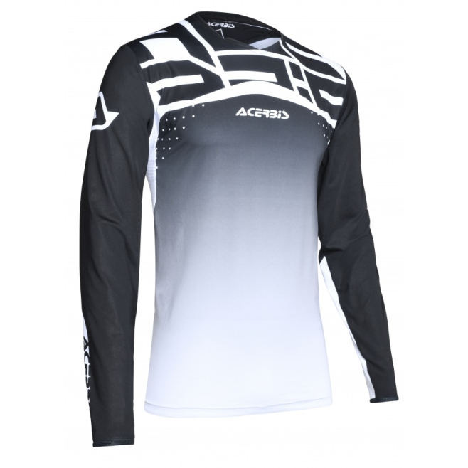 Jersey Acerbis X-Flex Sirio Negro/Blanco