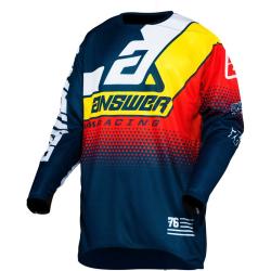 Jersey Answer 2020 Elite Korza Azul Oscuro/Amarillo/Rojo