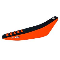 Funda Asiento Blackbird Doble Grip 3 KTM EXC/EXC-F 08-11 SX/SX-F 07-10 Negro/Naranja