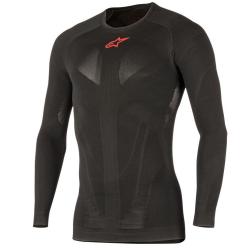 Camiseta Térmica Alpinestars Tech Top Summer Larga Negro/Rojo