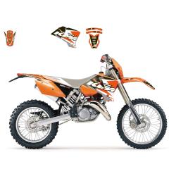 Kit Adhesivos Blackbird Dream 3 KTM EXC 125/200/250/300 03-04 EXC-F 450 03-04 SX 125/250 01-04