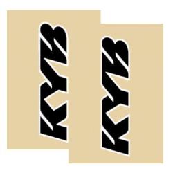 Adhesivos vinilo horquilla Kayaba