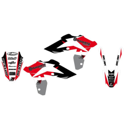 Kit Adhesivos Blackbird Dream 3 Husqvarna CR/WR 125 06-08 WR 250 06-13 Rojo