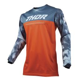 Jersey Thor S9 Pulse Acid Air Rojo/Naranja/Gris