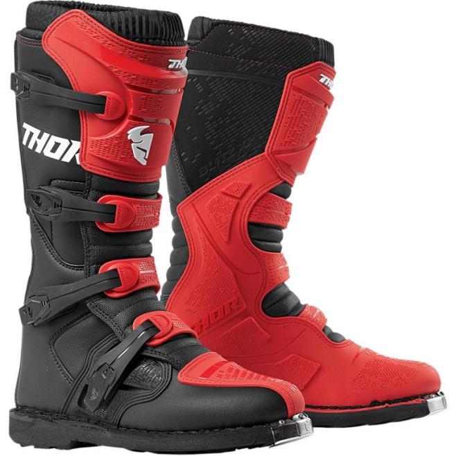 Botas Thor Blitz XP Rojo/Negro