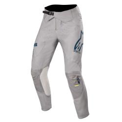 Pantalón Alpinestars Supertech 2020 Gris/Azul Oscuro/Amarillo Flúor