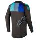 Jersey Alpinestars Techstar Venom 2019 Negro/Turquesa/Azul