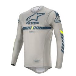 Jersey Alpinestars Supertech 2020 Gris/Azul Oscuro/Amarillo Flúor