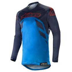 Jersey Alpinestars Racer Tech Compass 2019 Azul Oscuro/Azul/Rojo