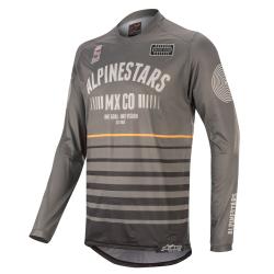 Jersey Alpinestars Racer Tech Flagship 2020 Gris Oscuro/Negro/Naranja