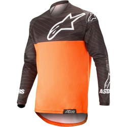 Jersey Alpinestars Venture R Negro/Naranja Flúor