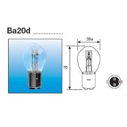 Lámpara Foco 12 V 35/35W BA20D