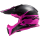 Casco LS2 MX437 Fast EVO Roar Negro Mate/Rosa