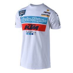 Camiseta Troy Lee KTM Blanco